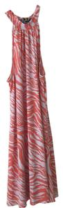 Cell Swing Swimsuit Coverup tangerine and white Halter Top