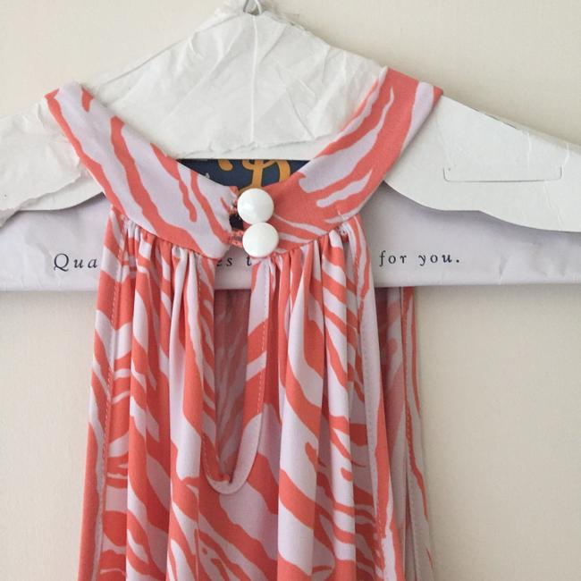 Cell Swing Swimsuit Coverup Coverup Dress tangerine and white Halter Top