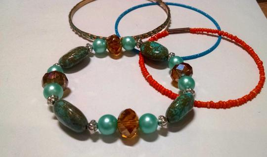 Other New Bracelet Bangle Set 3 Piece Turquoise Gemstone J359