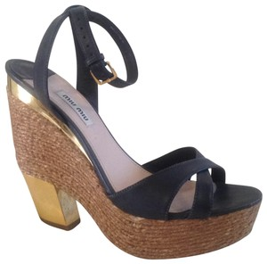 Miu Miu blue or navy Wedges