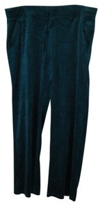 Croft & Barrow SLACKS 1X NWT VELOUR POLY COTTON TEAL GREEN RET $44 CROFT & BARROW PLUS ACTIVE