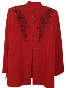Brownstone Studio Sz Pxl Top RED W BLACK