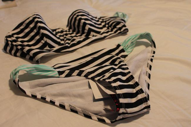 Hot Water Black and White Striped Bikini