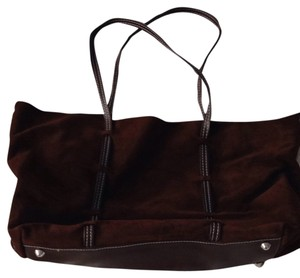 Mitzi Baker Suede Tote in Brown