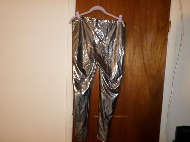 Frederick's of Hollywood Skinny Pants silver