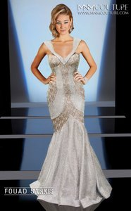 MNM Couture Silver Dress