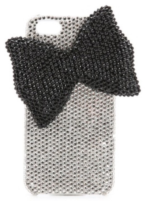 Item - Crystal Covered Black and White Bow Jeweled Iphone 5 / 5s Case Tech Accessory
