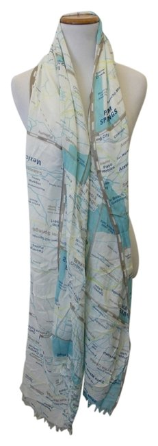Item - Yellow Grey and Blue Off The Map Scarf/Wrap