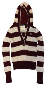 Abercrombie & Fitch Burgundy and Cream Jacket