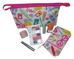 Clinique Brand New Clinique bundle includes 1 Large cosmetic bag, 1 small cosmetic bag, makeup, skin care, and Clinique Happy perfume!!