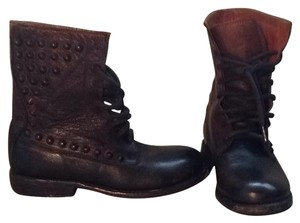 Bed Stu Dark Brown With Subtle Rubbed Off Look To A Medium Brown Boots