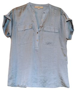 Ann Taylor LOFT Summer Spring Loose Fit Top Pale Blue