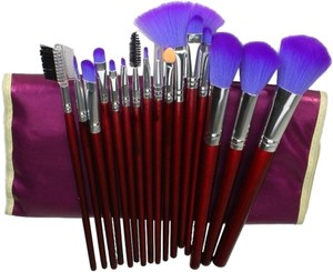 Electric Purple 17pc. Professional Makeup Brush Set