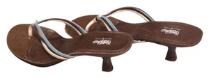 Mossimo Supply Co. Summer blue, white, brown. Sandals