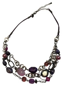 Lia Sophia Multi Strand Purple Necklace