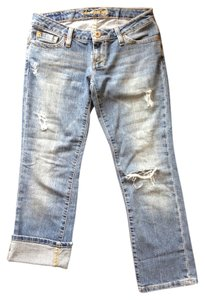 American Eagle Outfitters Distressed Capri Capri/Cropped Denim-Distressed