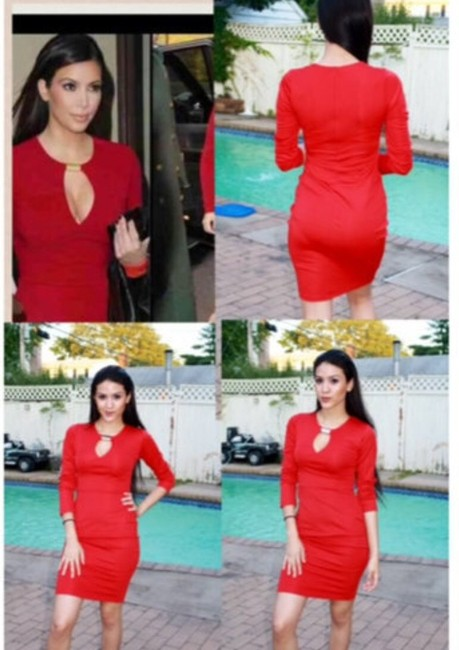 Bodycon Celebrity Style career dress Dress