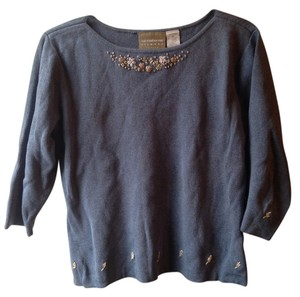 Liz Claiborne Flowers Embroidered Embroidery Boho Sweater