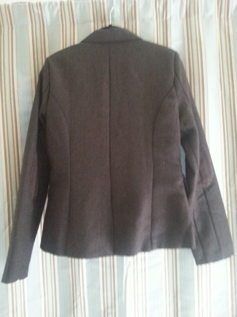 Ashley By 26 International Brown Pattern Professor Patch Leather Jacket