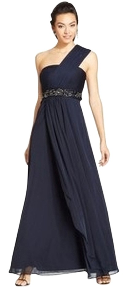 Patra New Womens Navy Chiffon Prom Empire Evening Gown Long Formal ...
