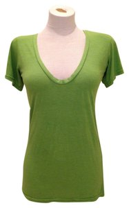 Frenchi Scoop Neck T Shirt Green