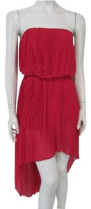 BCBGeneration Lollipop Empire Waist Hi Lo Pleated Spring Dress
