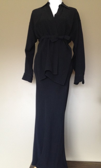 Jean-Paul Gaultier Haute Couture Wrap-around Skirt Suit Made In Italy Xs Dress