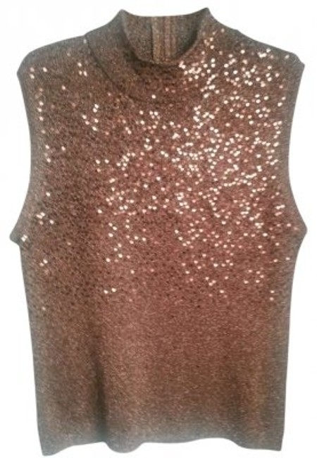 Preload https://item3.tradesy.com/images/bronze-sleeveless-blouse-night-out-top-size-16-xl-plus-0x-132662-0-0.jpg?width=400&height=650
