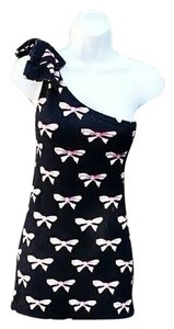Other short dress Blue with light pink ribbons One Bodycon Print on Tradesy