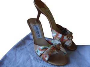 Jimmy Choo tan,multi Sandals
