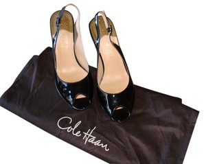 Cole Haan Black Patten Pumps