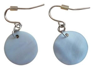 Other Mother of Pearl Disc Earrings