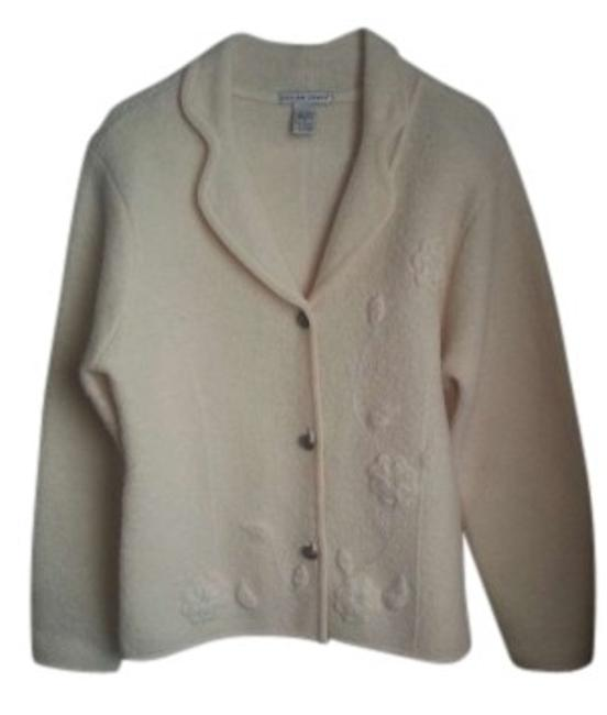 Preload https://img-static.tradesy.com/item/132701/jillian-jones-cream-woolcream-cardiganembroidery-detail-cardigan-size-14-l-0-0-650-650.jpg