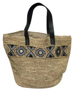 Skemo Tote in Black/Tan