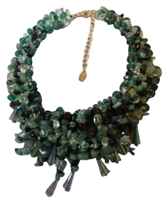 Item - Green Bead Statement Necklace