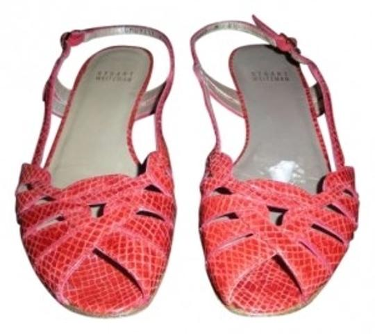 Preload https://item5.tradesy.com/images/stuart-weitzman-red-snakeskin-snake-woven-strappy-sandals-size-us-65-132709-0-0.jpg?width=440&height=440