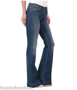 J Brand J Another Lovestory Bellbottom In Ingenue Blue Flare Leg Jeans