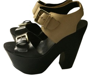 Report Signature Black And Beige Platforms