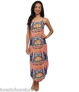 Multi-Color Maxi Dress by Mara Hoffman Easy In Mirage Navy Print
