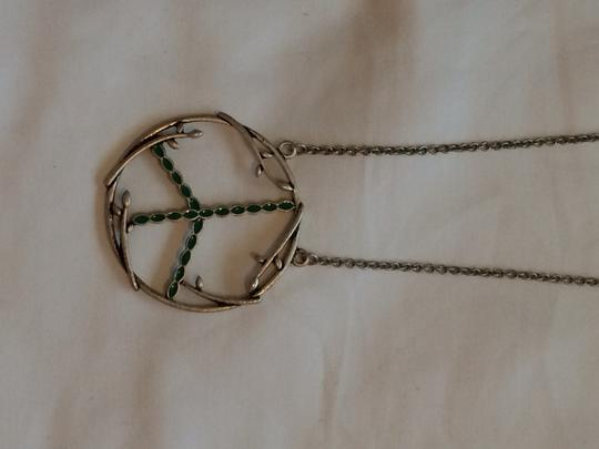 Target Peace Sign Silver Necklace