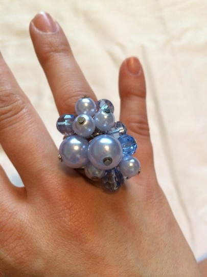 Claire's Blue Fashion Ball Rings