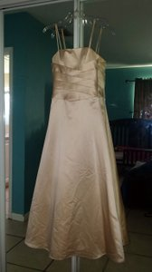 Alfred Angelo Champagne Junior Size 14 Style 6333 Dress