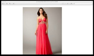 Aidan Mattox Chiffon Gown Prom Dress
