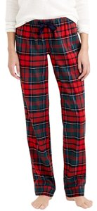 J.Crew Baggy Pants Plaid Green and Red