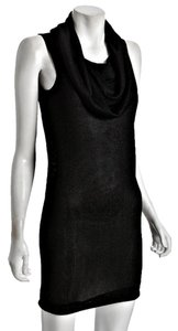 Halston Herritage short dress Black Classic Neck Draped Sweater on Tradesy