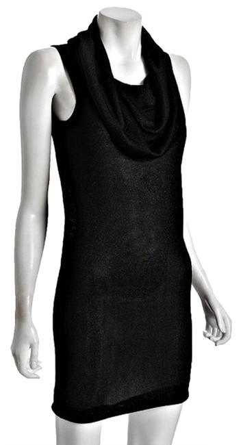 Halston Herritage short dress Black Classic Turtle Neck Draped Sweater on Tradesy