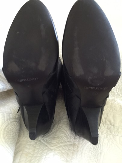 Cynthia Rowley Leather Black Boots