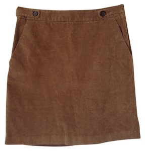 Banana Republic Classic Preppy Corduroy Skirt sand