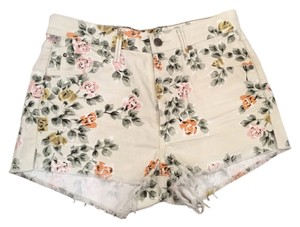 Citizens of Humanity Cut Pattern Cut Off Shorts Floral