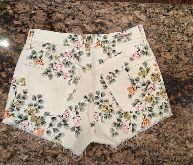 Citizens of Humanity Pattern Cut Off Shorts Floral Image 1